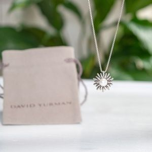 David Yurman Pearl Starburst Necklace Sterling